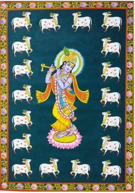 Pichwai Painting of Lord krishna - shreekrishnam