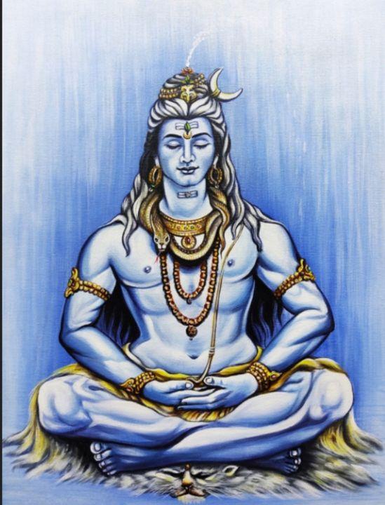 Shiva meditation paintings, - shreekrishnam