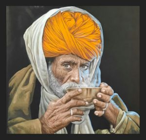 hyper realistic painting,Indian