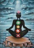 UV painting meditation chakras