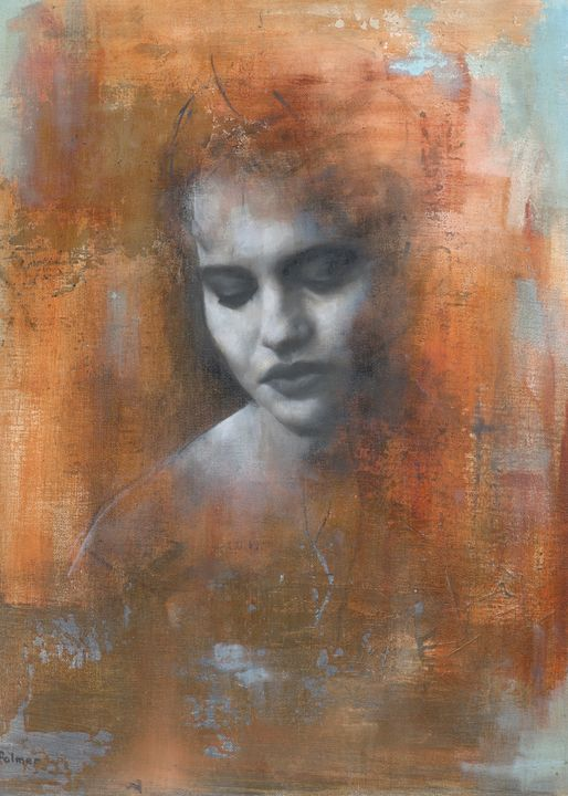 Portrait of Helena Bonham-Carter - Patrick Palmer Figurative Art
