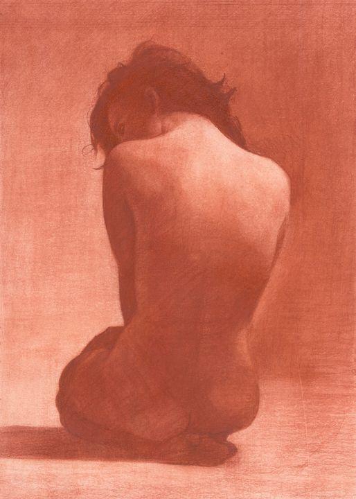 La Femme en Rouge - Patrick Palmer Figurative Art