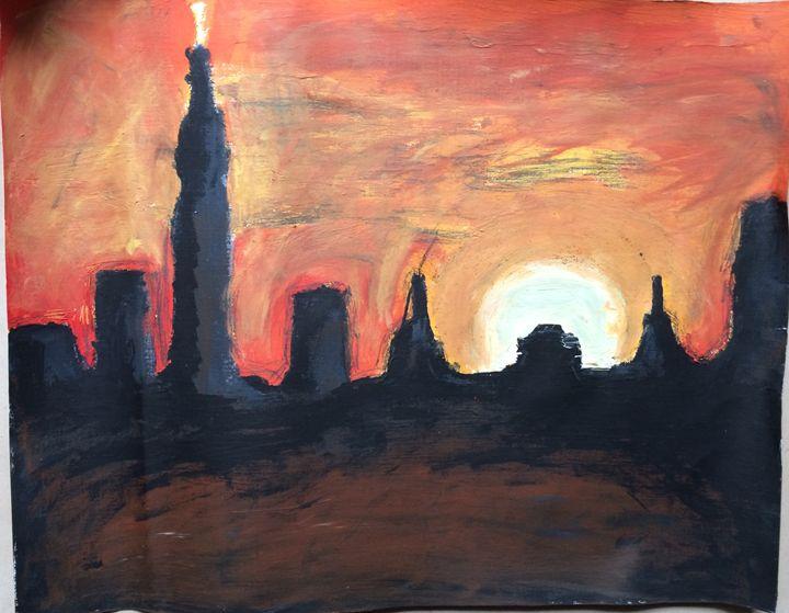 Sunset CityScape - Desde Mi Corazon (Paintings)