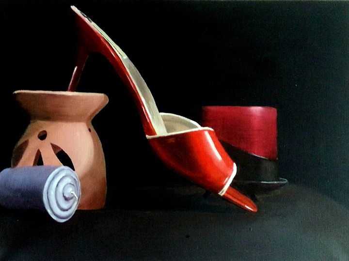 Red Shoe - Broadbent Fine Art