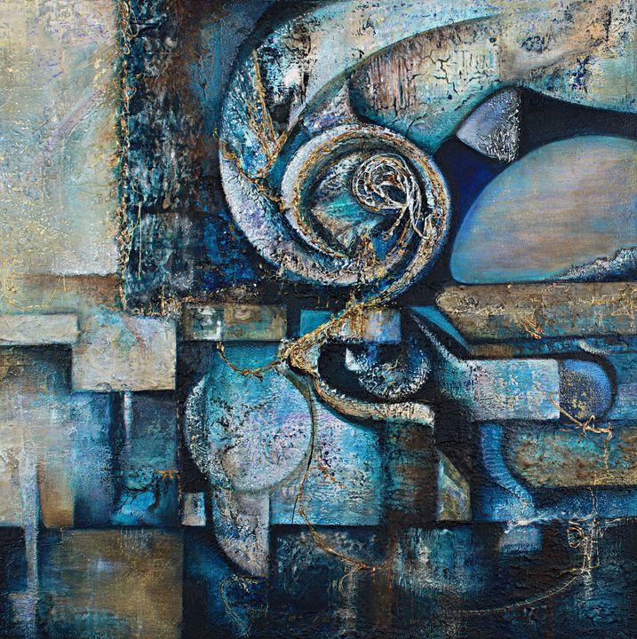 Blue Labyrinth - Kat Jaeger Fine Art