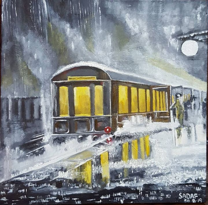 A Train in Rain - Sadaf's Artistry