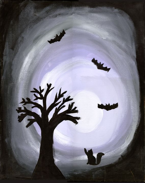 Eerie Meow in the Night - April's Art