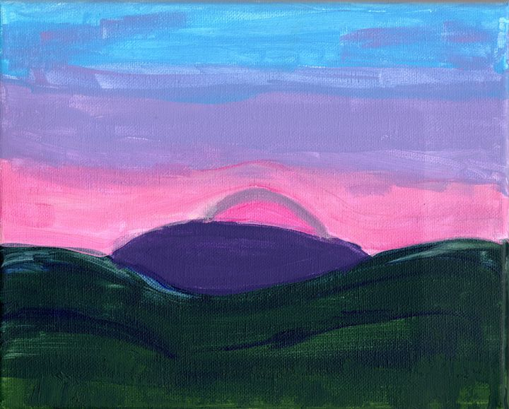 The Hills Awaken - April's Art