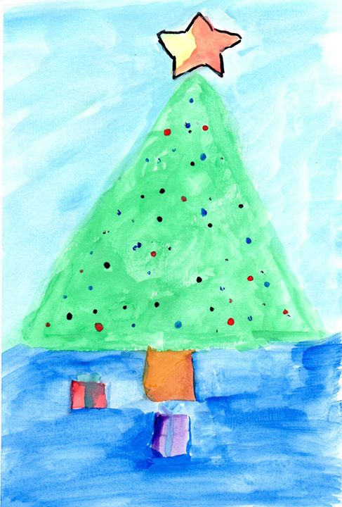 Simple Christmas Art Paintings
