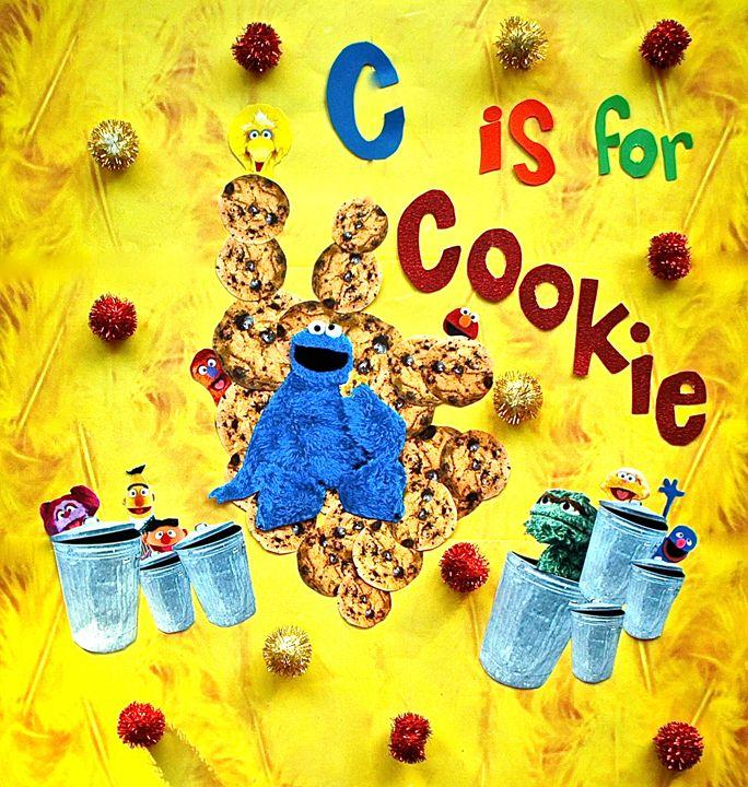 Cookie Monster - Ellie Luna Art