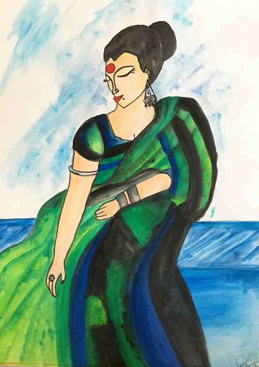 Women in saree - Touch_of_Hands