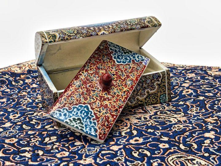 Miniature Persian jewelry box (Bone) - My Persian Heritage