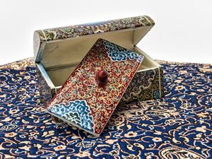 Miniature Persian jewelry box (Bone) - My Persian Heritage