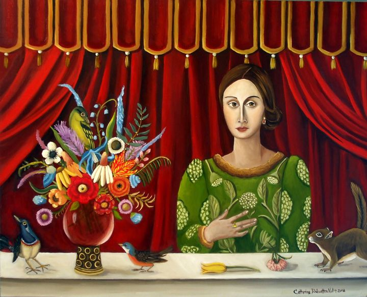 Pastime Paradise Original Painting - Catherine Nolin Art Studio