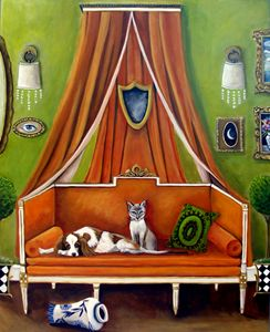 The decorator's Pets/SOLD - Catherine Nolin Art Studio