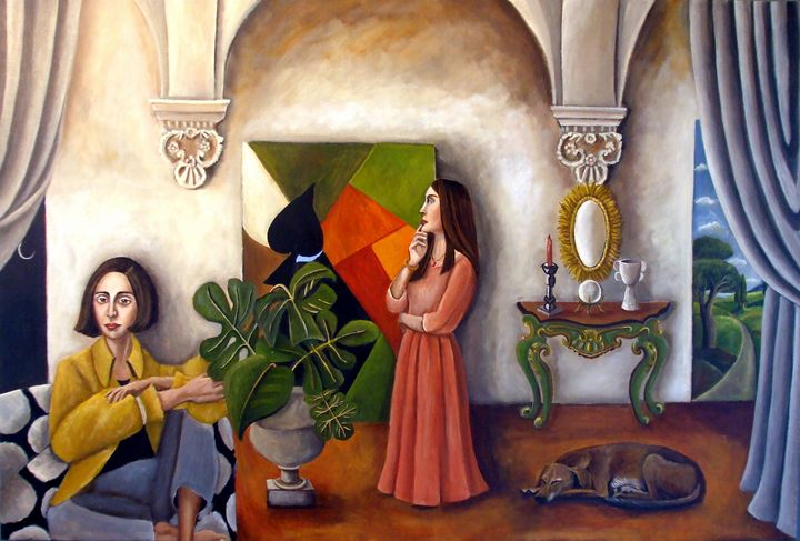 The Collector At The Villa - Catherine Nolin Art Studio