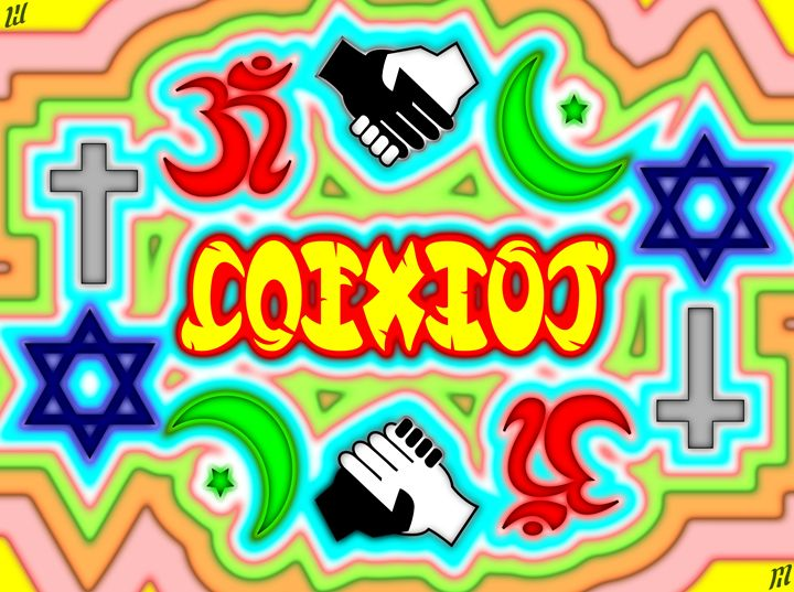 Coexist - Ambigram - Digital Paintings