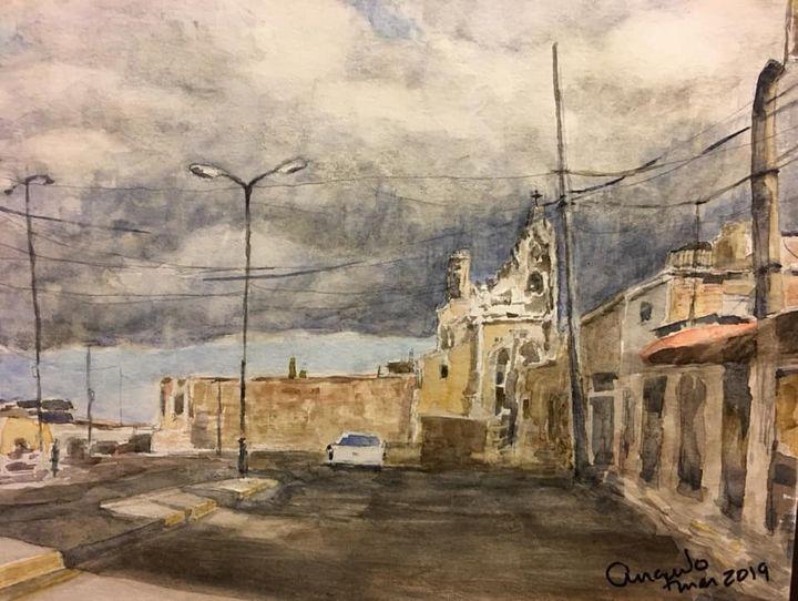 Coming storm in Cholula - Angulo
