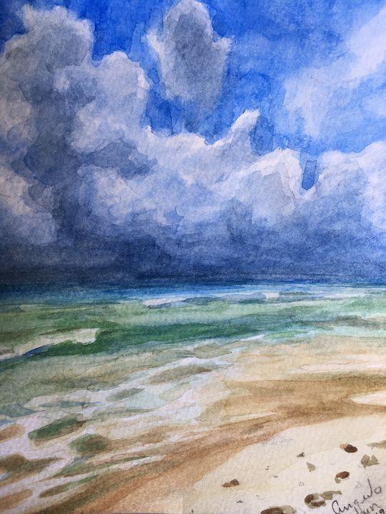 Where sea and sky meet - Angulo