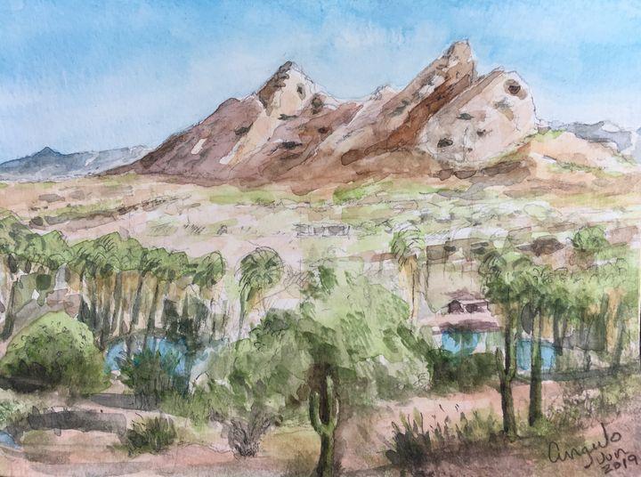 Oasis in Arizona landscape - Angulo