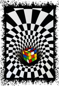 Rubik's Cube Illusion