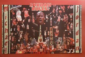 JORDAN RULES - Dorian's One of a Kind HANDMADE NBA COLLAGES