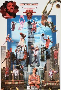 DRose Balling in the Windy City. - Dorian's One of a Kind HANDMADE NBA COLLAGES