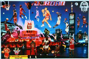 AIR JORDAN BLUE MOON - Dorian's One of a Kind HANDMADE NBA COLLAGES