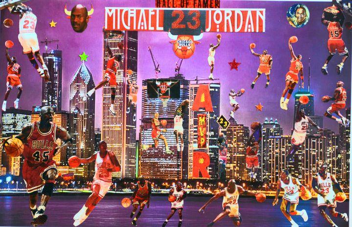 Hall of Famer Michael 23 Jordan - Dorian's One of a Kind HANDMADE NBA COLLAGES