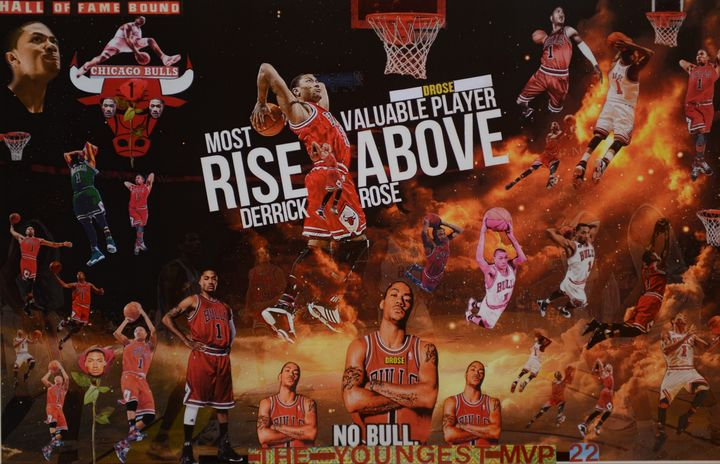 DRose RISE ABOVE and BEYOND. - Dorian's One of a Kind HANDMADE NBA COLLAGES