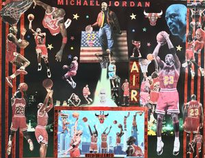 JORDAN'S WORLD - Dorian's One of a Kind HANDMADE NBA COLLAGES