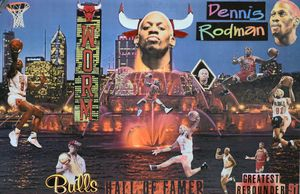 Dennis Rodman GREATEST Rebounder. - Dorian's One of a Kind HANDMADE NBA COLLAGES