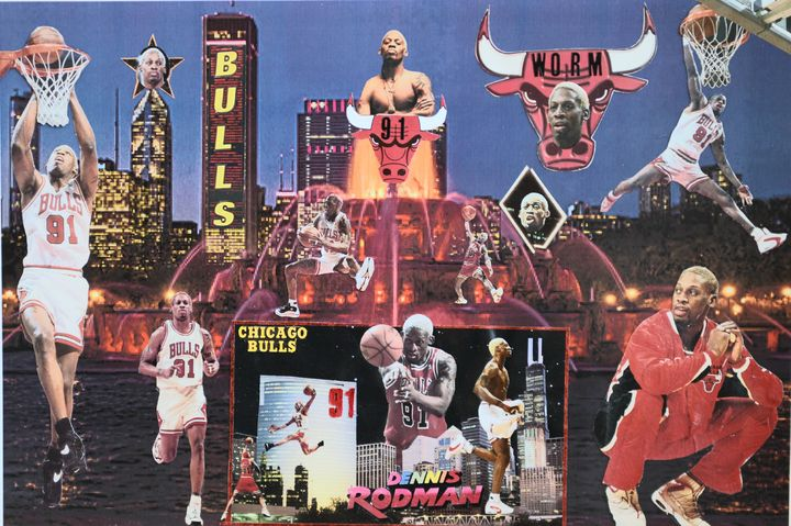 THE WORM - Dorian's One of a Kind HANDMADE NBA COLLAGES