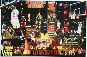 ATHLETE OF THE YEAR MICHAEL JORDAN - Dorian's One of a Kind HANDMADE NBA COLLAGES