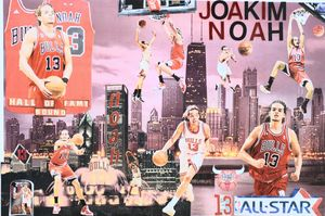 JOAKIM NOAH ALLSTAR - Dorian's One of a Kind HANDMADE NBA COLLAGES