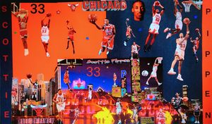 SCOTTIE PIPPEN HALL OF FAMER - Dorian's One of a Kind HANDMADE NBA COLLAGES
