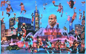 MICHAEL JORDAN AIR TAKEOFF - Dorian's One of a Kind HANDMADE NBA COLLAGES
