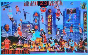 MICHAEL JORDAN AIR FLIGHT - Dorian's One of a Kind HANDMADE NBA COLLAGES