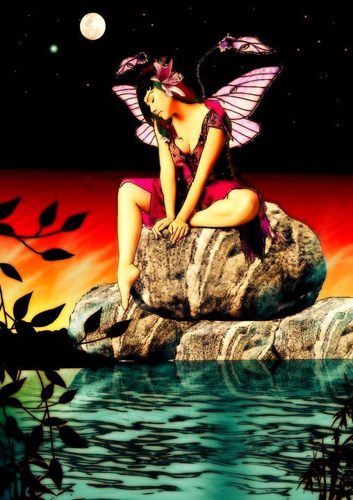 The fairy of swan lake - marina's art