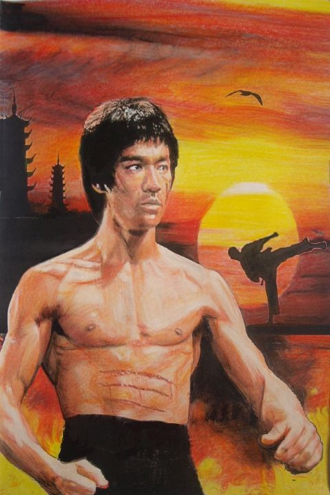 Bruce lee Fan - marina's art