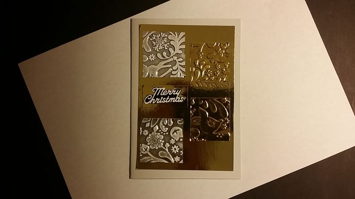 Christmas card with Embossed pattern - Hand Made Cards