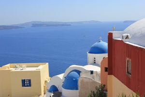 Greek church beautiful view