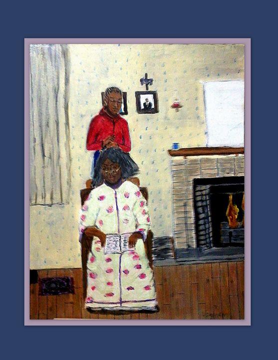 Combing Mema Hair - NOAH'S Art Gallery