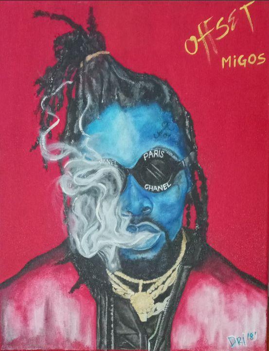 Offset - Blue Art by Dri Glass