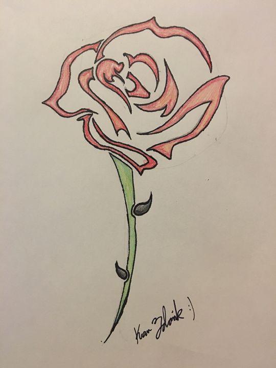 Rose tattoo - Tablet drawings