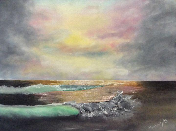 Sunset waves - Kimberly Tejada