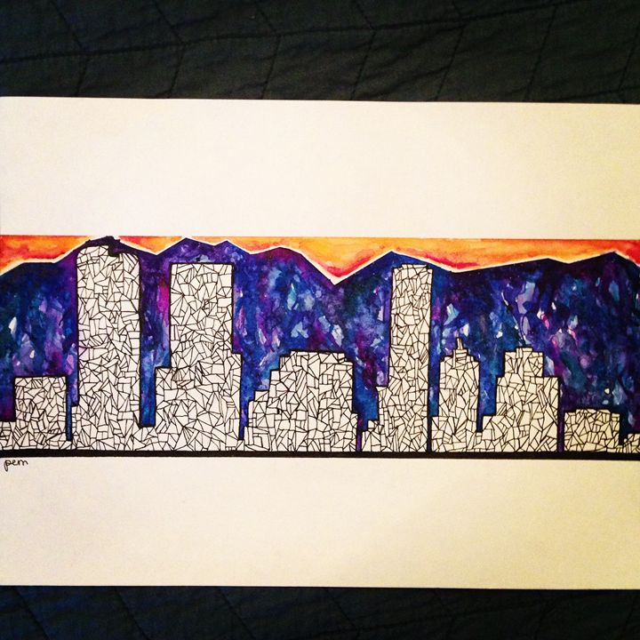 Denver Skyline - Elevated