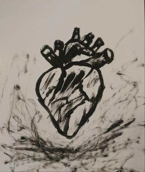 Black heart - Nicholson Art Gallery