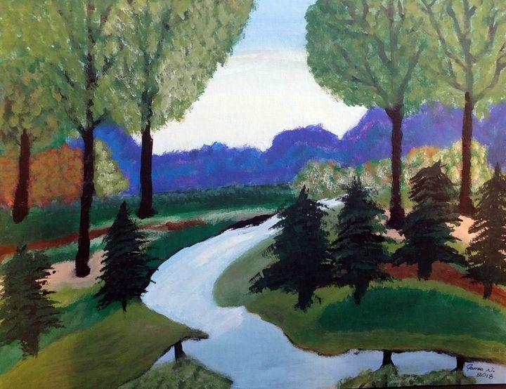 Country Stream - Nicholson Art Gallery
