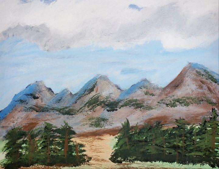 Drumheller Mountains - Nicholson Art Gallery
